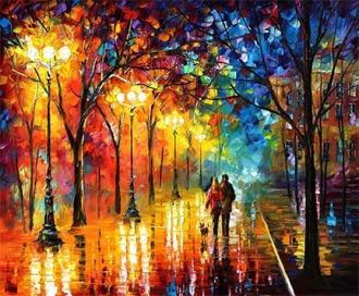 Night Happiness by Leonid Afremov
